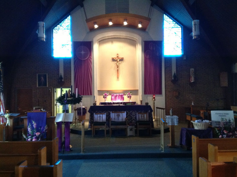 We also build and remodel Churches.  Here is a remodeled alter at St. Timothy's Church in Tonawanda NY
