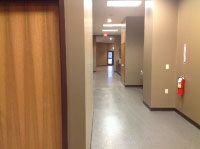 Inside view of recent renovations at Twin City Ambulance