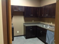Here is a picture of the kitchen remodeling at Twin City Ambulance.